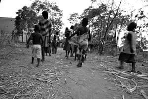 Kindergruppe in Uganda